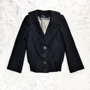 Marc Jacobs black wool coat